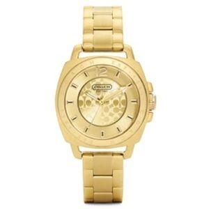 Women's Coach Boyfriend Mini Gold Watch 34mm